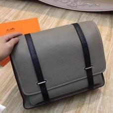 Hermes Bicolor Steve 35 Messenger Grey Bags