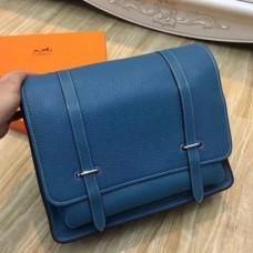 Hermes Blue Jean Steve 35 Messenger Bags