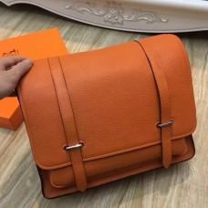 Hermes Orange Steve 35 Messenger Bags