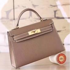 Hermes Etoupe Epsom Kelly Mini II 20cm Handmade Bags