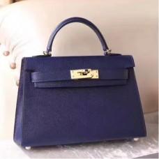 Hermes Sapphire Epsom Kelly Mini II 20cm Handmade Bags