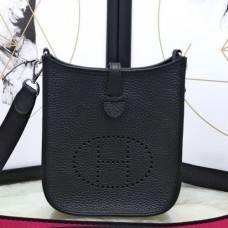 Hermes Black Evelyne II TPM Messenger Bags