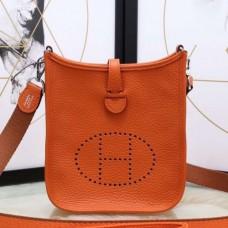 Hermes Orange Evelyne II TPM Messenger Bags
