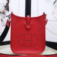 Hermes Red Evelyne II TPM Messenger Bags