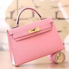 Hermes Pink Epsom Kelly Mini II 20cm Handmade Bags