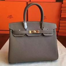 Hermes Etoupe Epsom Birkin 30cm Handmade Bags