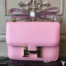 Hermes Pink Constance MM 24cm Epsom Leather Bags