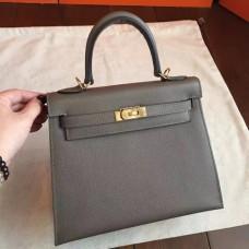 Hermes Etoupe Epsom Kelly 25cm Sellier Handmade Bags