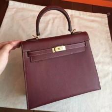Hermes Bordeaux Epsom Kelly 25cm Sellier Handmade Bags