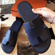 Hermes Izmir Sandals In Sapphire Epsom Leather