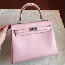 Hermes Rose Dragee Swift Kelly 25cm Retourne Handmade Bags