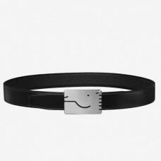 Hermes Black A Cheval Belt Buckle 32 MM Reversible Leather