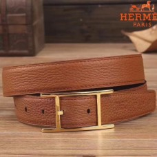 Hermes Quentin 32 MM Brown Reversible Belt