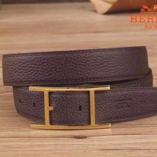 Hermes Quentin 32 MM Chocolate Reversible Belt