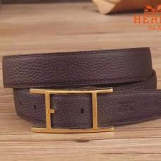 Hermes Quentin 32 MM Chocolate Reversible Belt