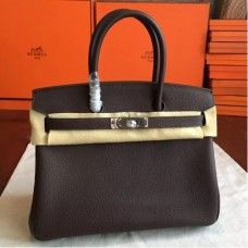 Hermes Cafe Clemence Birkin 30cm Handmade Bags
