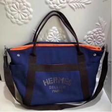 Hermes Blue Functional Grooming Bags