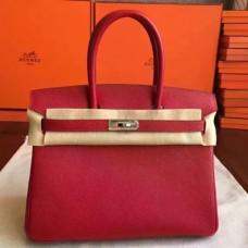 Hermes Red Epsom Birkin 30cm Handmade Bags