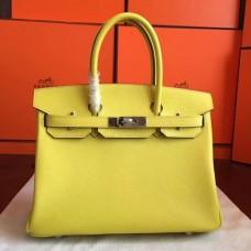 Hermes Soufre Epsom Birkin 30cm Handmade Bags