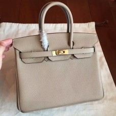 Hermes Grey Clemence Birkin 25cm Handmade Bags