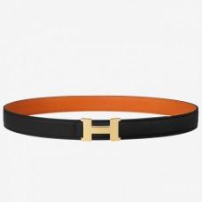 Hermes Mini Constance Belt Buckle & Orange Epsom 24 MM Strap