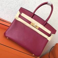 Hermes Ruby Epsom Birkin 30cm Handmade Bags