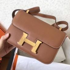 Hermes Epsom Constance 24cm Brown Handmade Bags