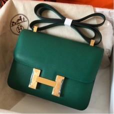 Hermes Epsom Constance 24cm Malachite Handmade Bags