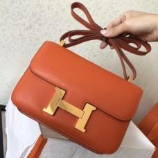 Hermes Epsom Constance 24cm Orange Handmade Bags