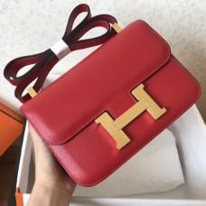 Hermes Epsom Constance 24cm Red Handmade Bags