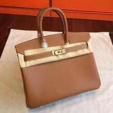 Hermes Brown Epsom Birkin 25cm Handmade Bags