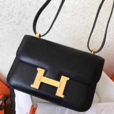 Hermes Swift Constance 24cm Black Handmade Bags