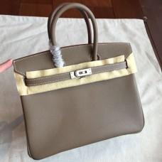 Hermes Etoupe Epsom Birkin 25cm Handmade Bags