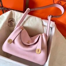 Hermes Pink Lindy 26cm Clemence Handmade Bags