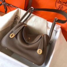 Hermes Taupe Lindy 26cm Clemence Handmade Bags