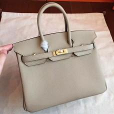 Hermes Grey Epsom Birkin 25cm Handmade Bags