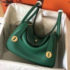 Hermes Vert Vertigo Lindy 26cm Clemence Handmade Bags
