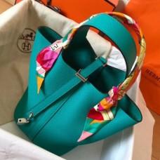 Hermes Blue Paon Picotin Lock PM 18cm Handmade Bags