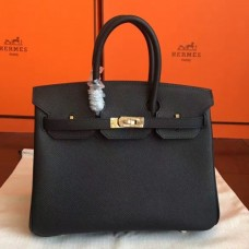 Hermes Black Epsom Birkin 25cm Handmade Bags