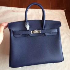 Hermes Sapphire Epsom Birkin 25cm Handmade Bags