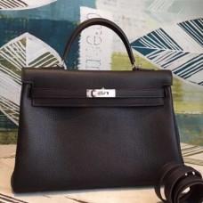 Hermes Cafe Clemence Kelly 35cm Handmade Bags