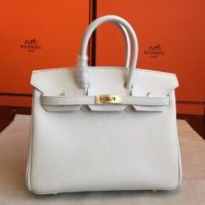 Hermes White Epsom Birkin 25cm Handmade Bags