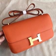 Hermes Orange Epsom Constance Elan 25cm Bags