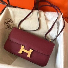 Hermes Bordeaux Epsom Constance Elan 25cm Bags