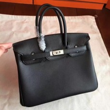 Hermes Black Swift Birkin 25cm Handmade Bags