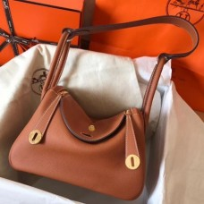 Hermes Gold Lindy 30cm Clemence Handmade Bags