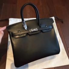 Hermes Black Box Birkin 25cm Handmade Bags