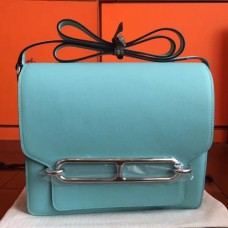 Hermes Mini Sac Roulis Bags In Blue Atoll Swift Leather