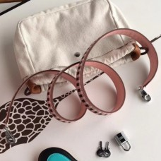 Hermes Pink Tressage Cuir 25 MM Bags Strap