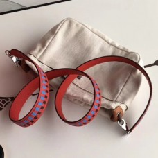 Hermes Red Tressage Cuir 25 MM Bags Strap